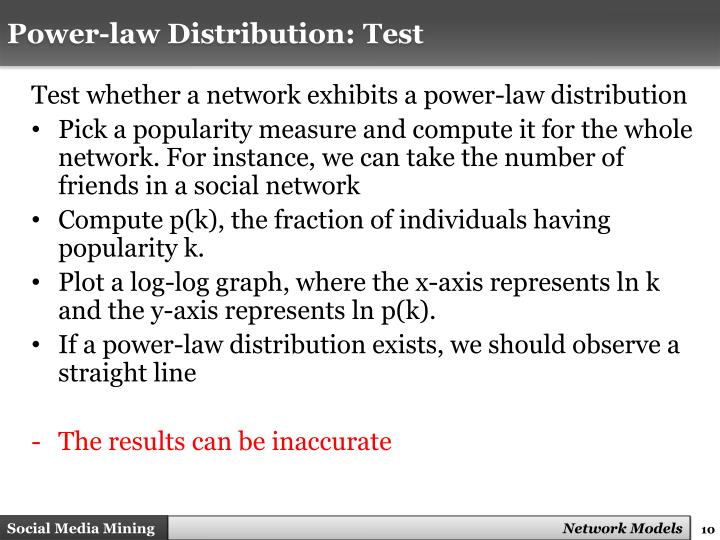 Power-law Distribution: Test