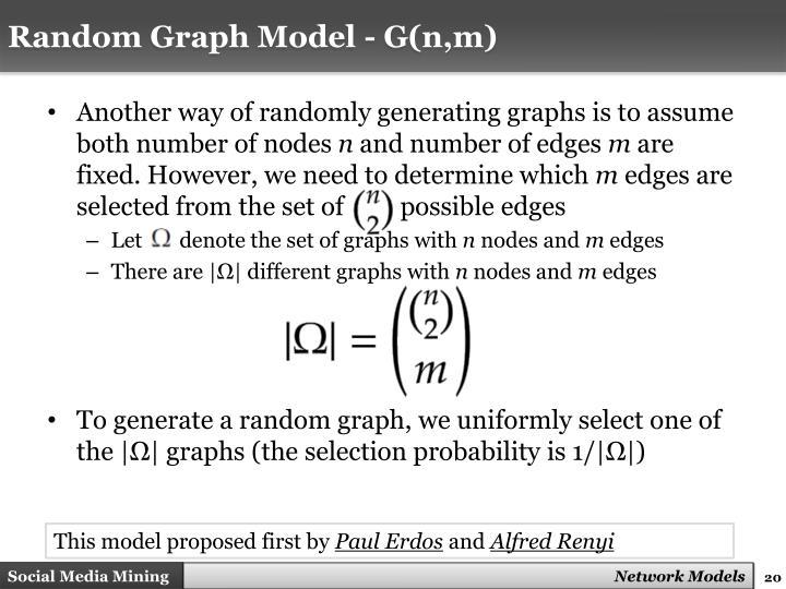 Random Graph Model - G(