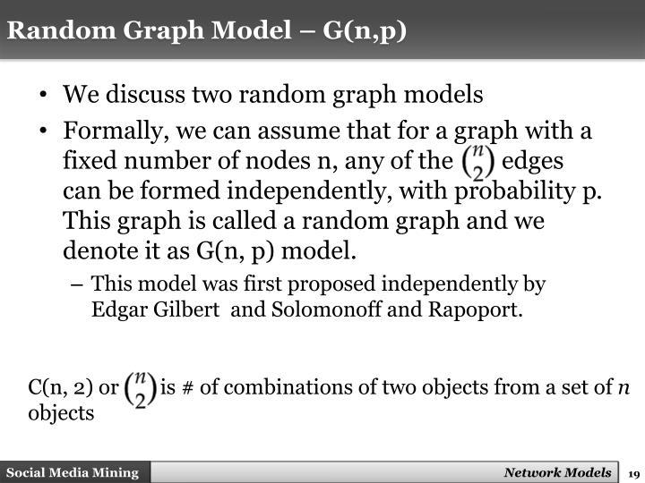 Random Graph Model – G(