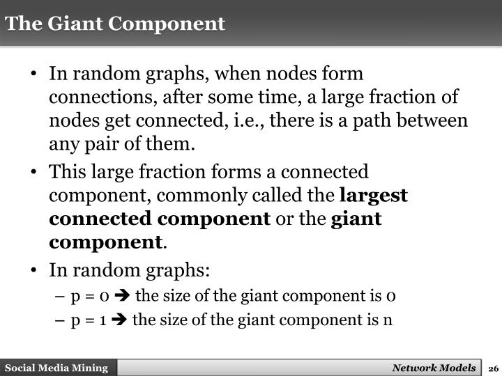 The Giant Component