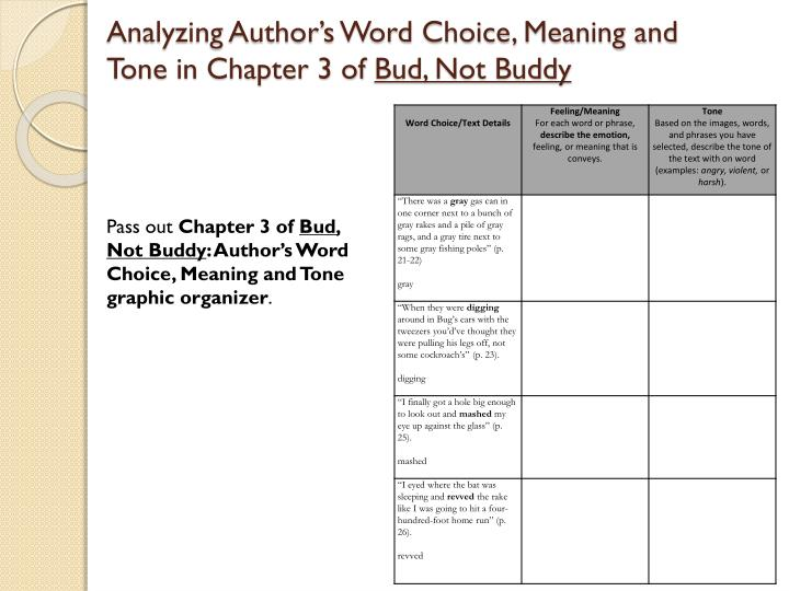 Analyzing Author's Word Choice, Meaning and Tone in Chapter 3 of