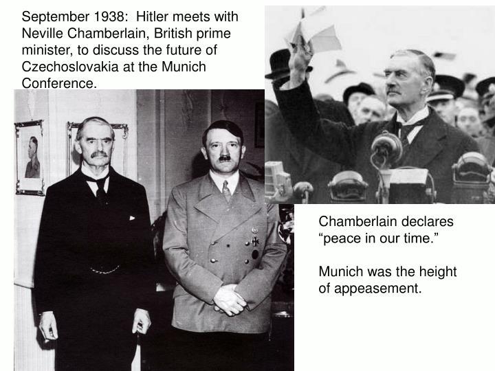 September 1938:  Hitler