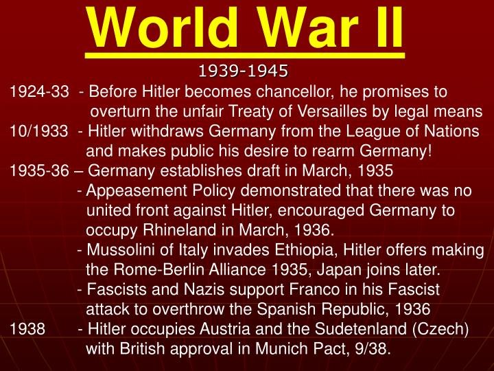 1924-33  - Before Hitler becomes chancellor, he promises to