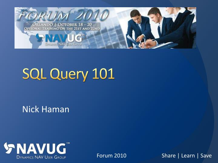 Sql query 101