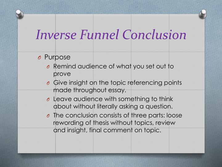 Inverse Funnel Conclusion
