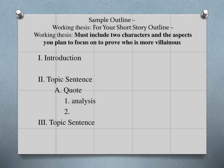 Sample Outline –