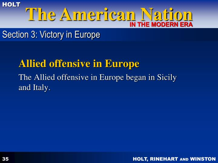 Section 3: Victory in Europe