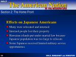 effects on japanese americans