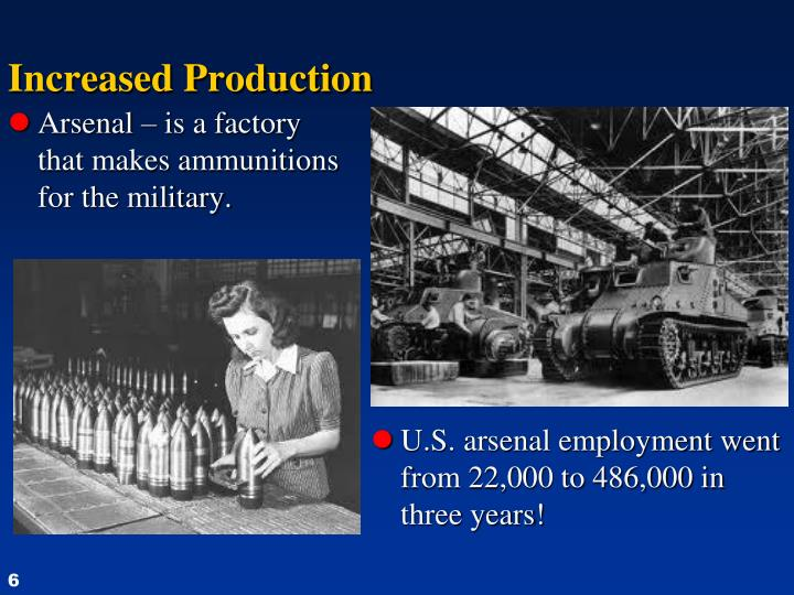 Increased Production