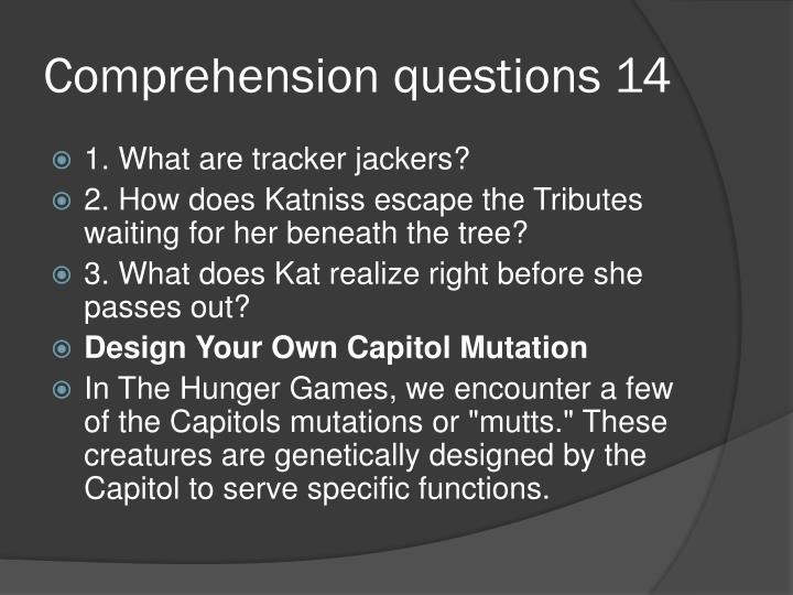 Comprehension questions 14