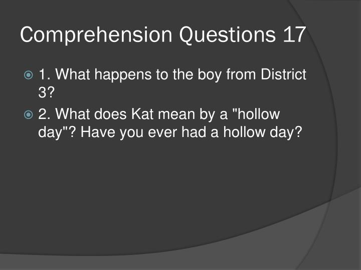 Comprehension Questions 17