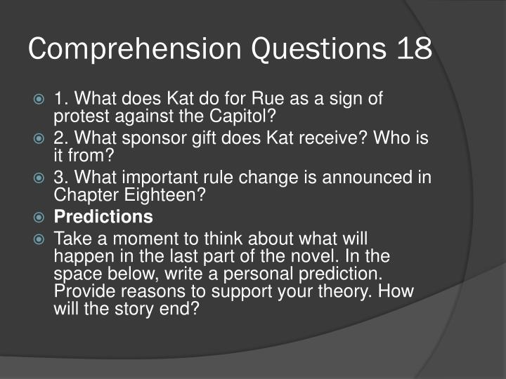 Comprehension Questions 18