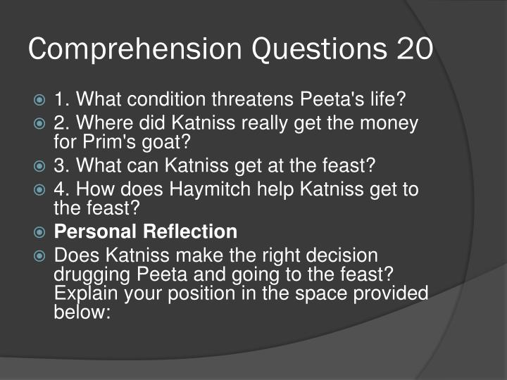 Comprehension Questions 20