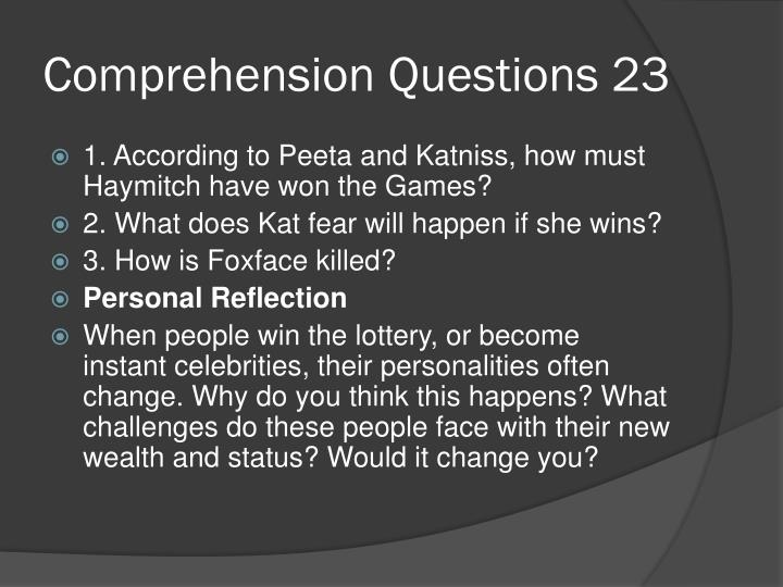 Comprehension Questions 23