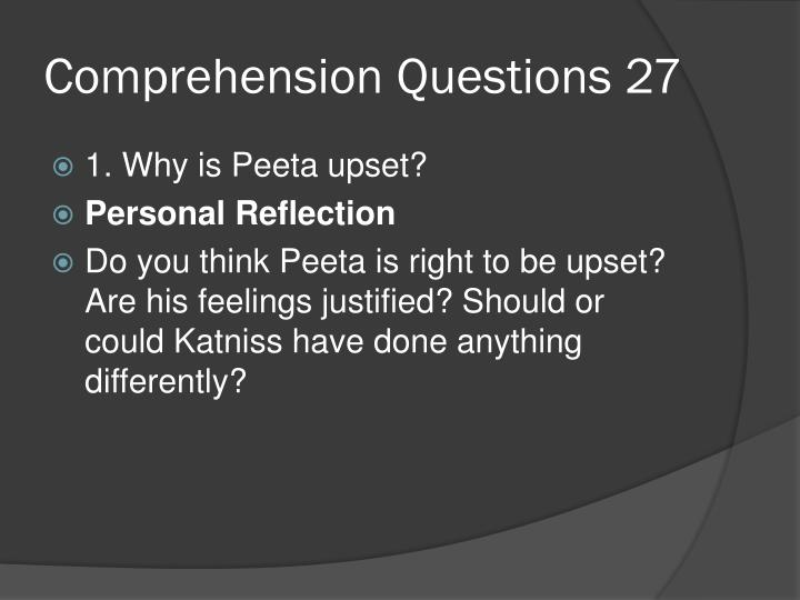 Comprehension Questions 27