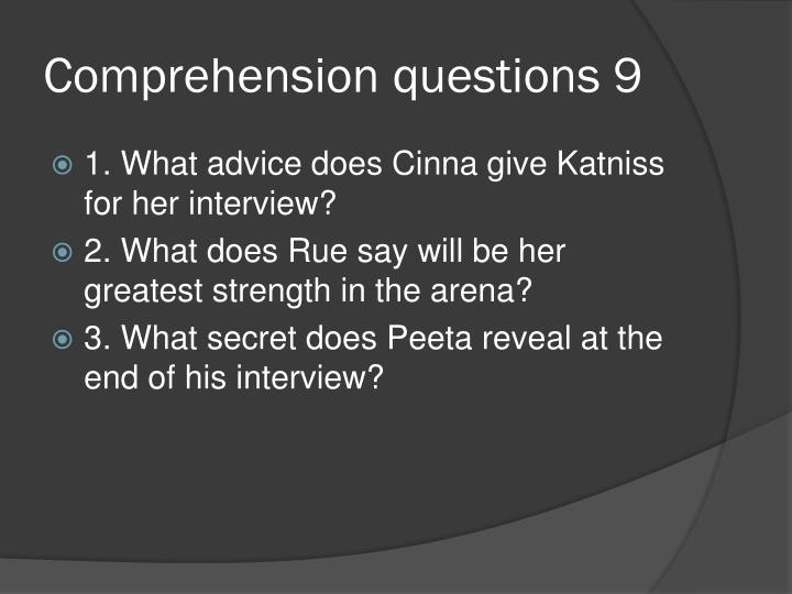 Comprehension questions 9