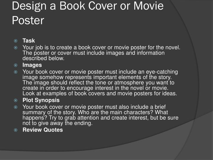 Design a Book Cover or Movie Poster
