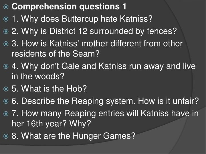 Comprehension questions 1