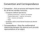 convention and correspondance