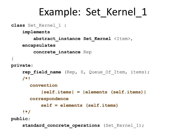 Example:  Set_Kernel_1