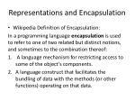 representations and encapsulation