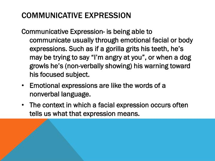 Communicative Expression
