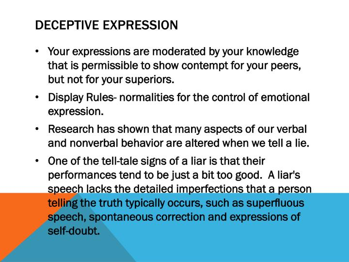 Deceptive Expression