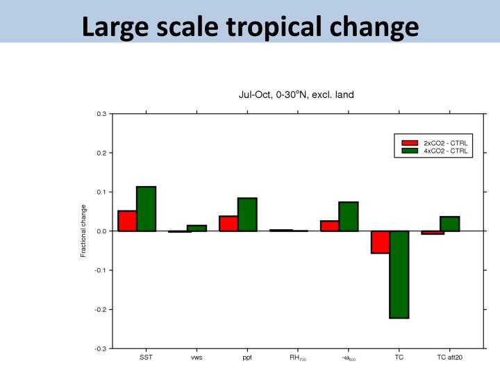 Large scale tropical change