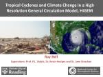 tropical cyclones and climate change in a high resolution general circulation model higem
