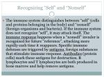 recognizing self and nonself