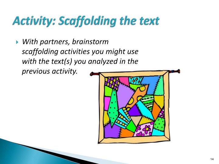 Activity: Scaffolding the text