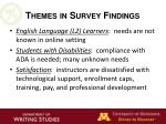 themes in survey findings1