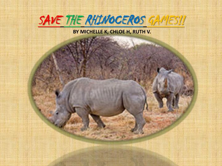 Save the rhinoceros games