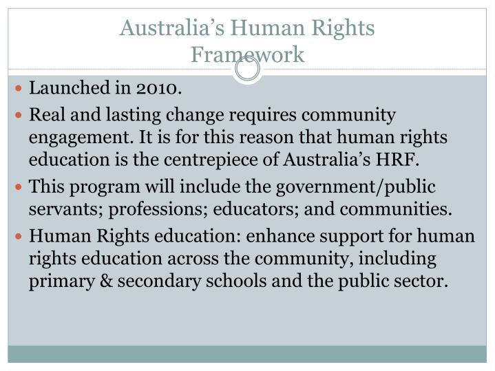 Australia's Human Rights
