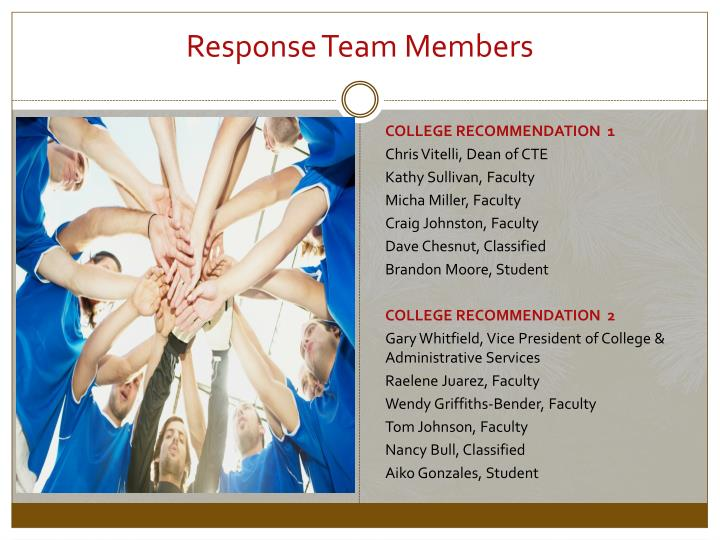 Response Team Members