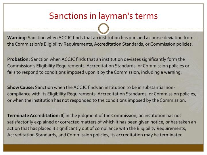 Sanctions in layman's terms