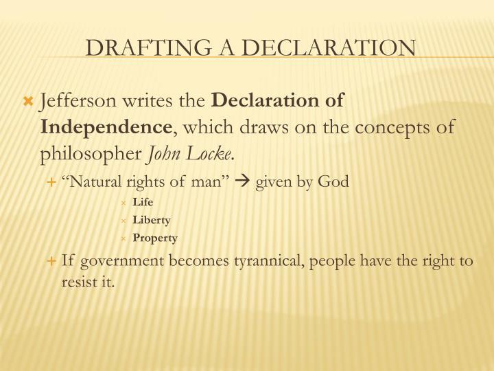 Jefferson writes the