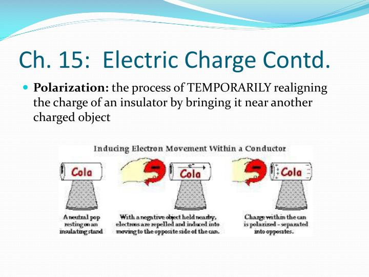 Ch. 15:  Electric Charge Contd.