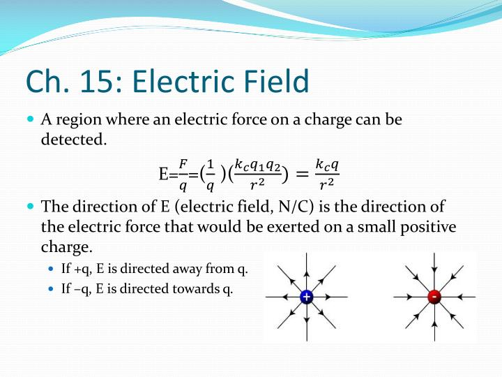 Ch. 15: Electric Field