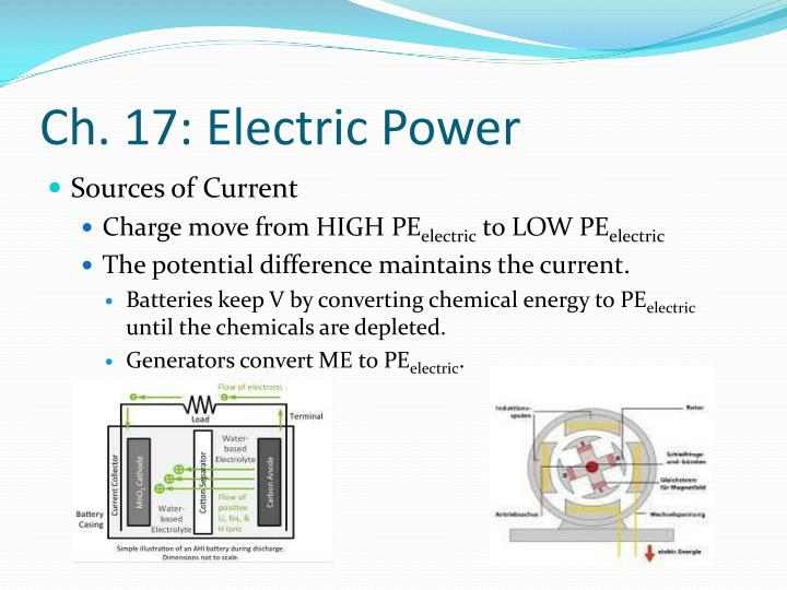 Ch. 17: Electric Power
