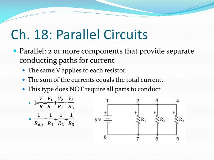 Ch. 18: Parallel Circuits