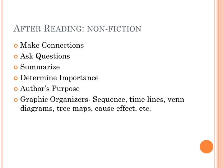 After Reading: non-fiction