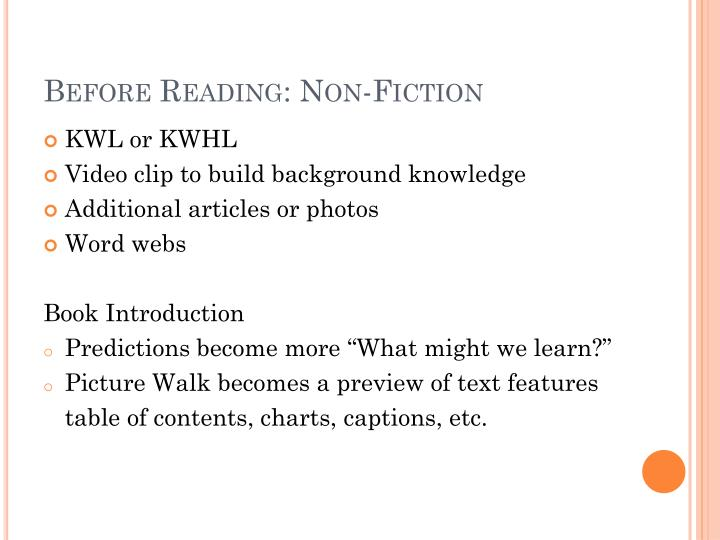 Before Reading: Non-Fiction