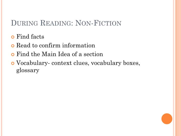 During Reading: Non-Fiction