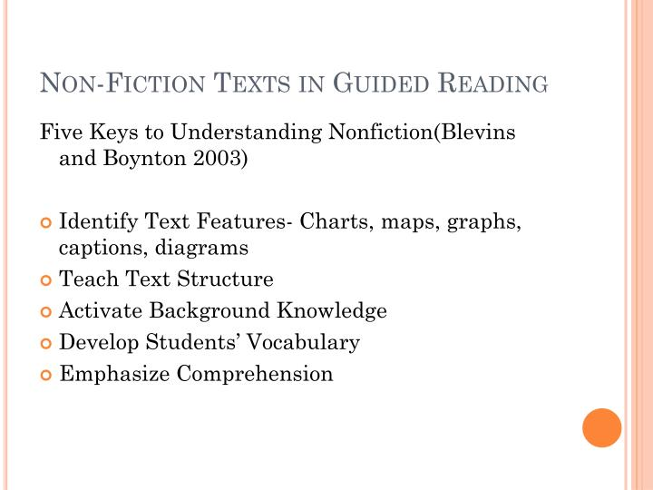 Non-Fiction Texts in Guided Reading