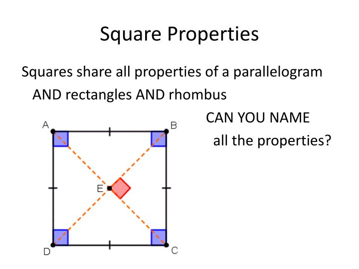 Square Properties