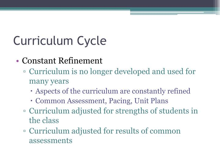 Curriculum Cycle