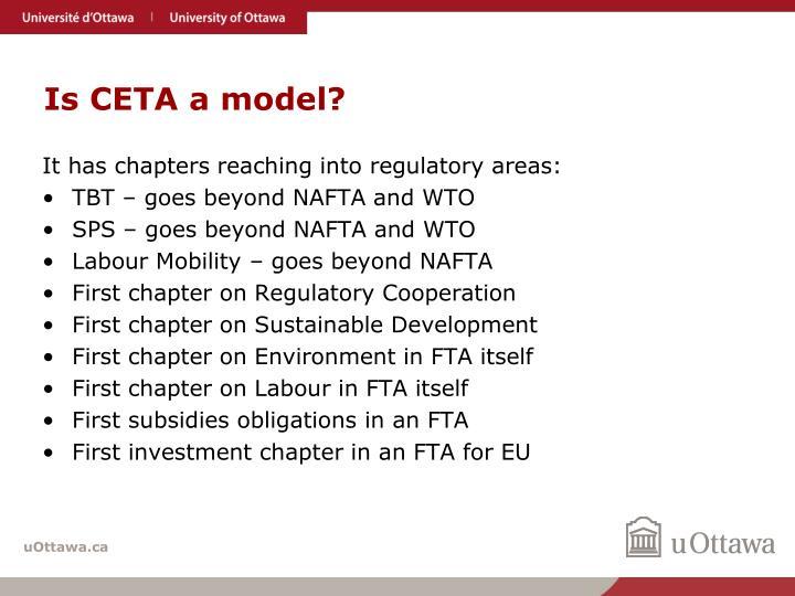 Is CETA a model?