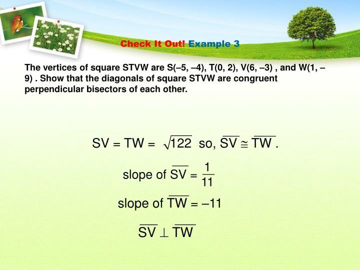 SV = TW =    122  so, SV