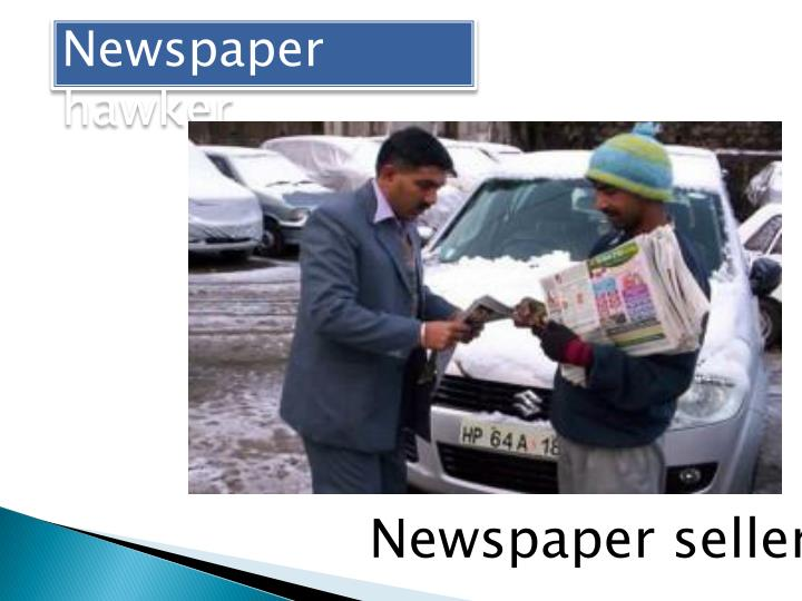 Newspaper hawker